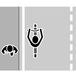 歩道がある道路では、原則として車道を走りましょう。